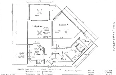 Hickory #119 Floor Plan