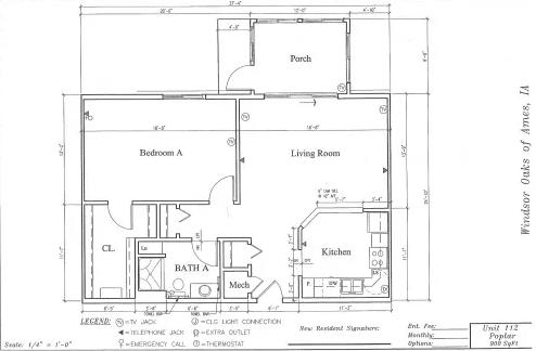 Poplar #112 Floor Plan