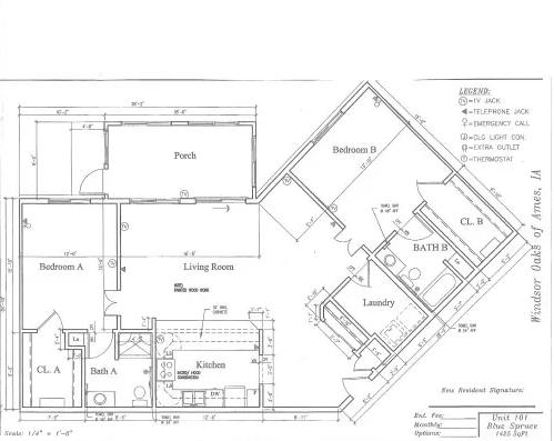 Blue Spruce #101 Floor Plan