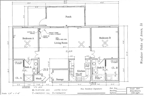 Hawthorn #104 Floor Plan