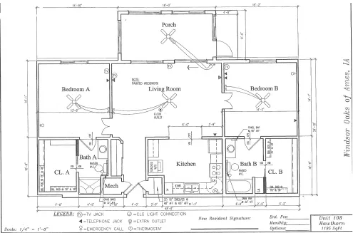Hawthorn #108 Floor Plan