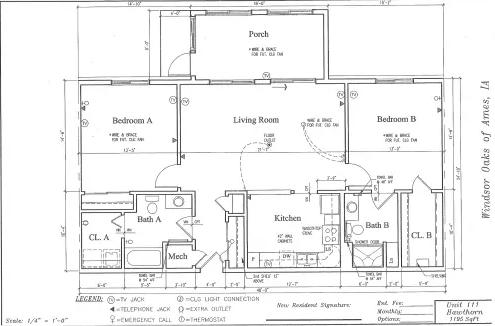 Hawthorn #111 Floor Plan