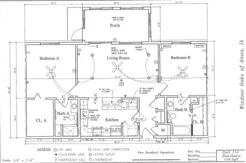 Hawthorn #114 Floor Plan