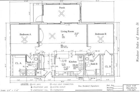 Hawthorn #118 Floor Plan