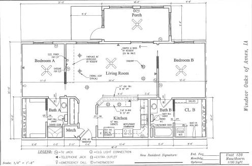 Hawthorn #120 Floor Plan