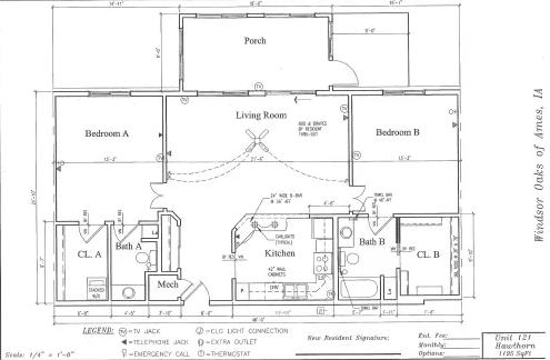 Hawthorn #121 Floor Plan