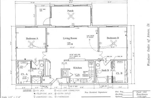 Hawthorn #124 Floor Plan