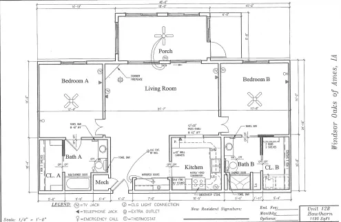 Hawthorn #128 Floor Plan