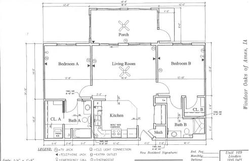 Linden #109 Floor Plan