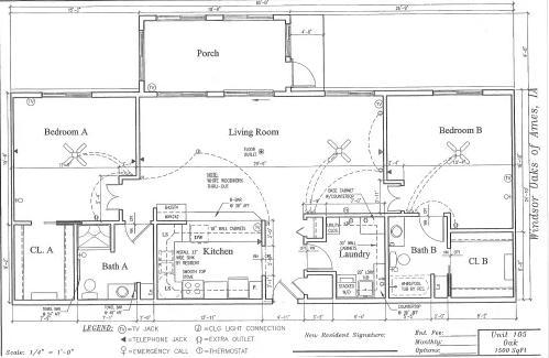 Oak #105 Floor Plan