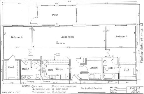 Oak #116 Floor Plan