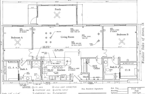 Oak #122 Floor Plan