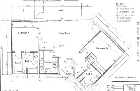 Willow #102 Floor Plan