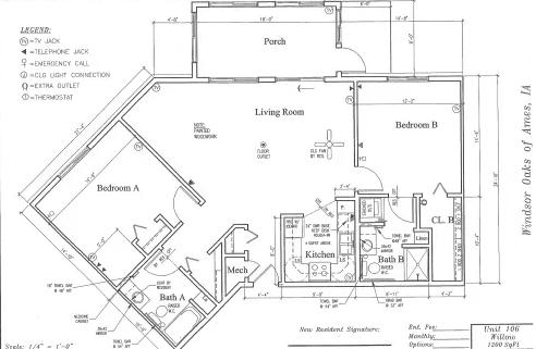 Willow #106 Floor Plan